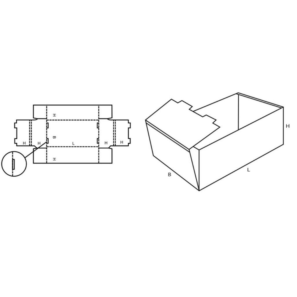 FEFCO 0422 Cardboard Tray